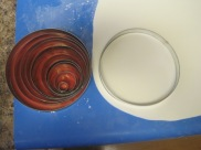 "Use a circle cutter to get the basic shape, but leave fondant about 1/2"" thick"