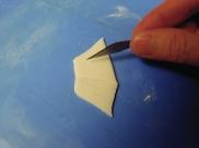 Cut out side fins..