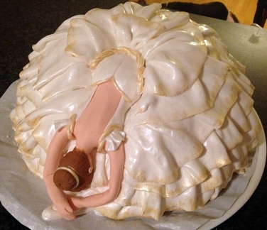 Finished Ballerina Cake